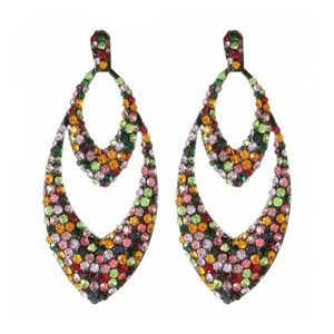 NWT Amrita Singh Multi-color Crystal Drop Earrings